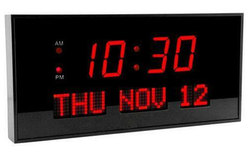 Led wall clock ebay - Extra large digital wall clock ...