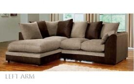 PICK ANY COLOUR OR DESIGN Brand New Dylan Byron Jumbo Cord Double Padded Corner or 3+2 Sofa