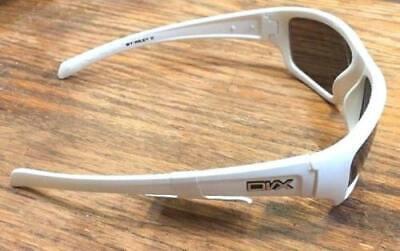 DVX RAGE Designer Polarized Sun Glasses Silver Flash Lens White Frames 63-14-132