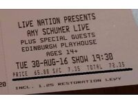 2 x AMY SCHUMER LIVE Stalls Tickets - 20% Off RRP! - Edinburgh Playhouse 30/08