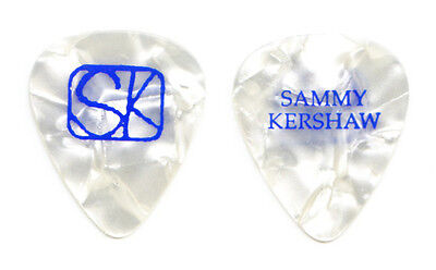Sammy Kershaw White Pearl Guitar Pick - 2010 Tour