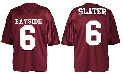 Adult TV Saved By The Bell AC Slater #6 Bayside Tigers Costume Football Jersey