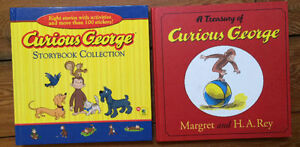CURIOUS GEORGE COLLECTION 2 treasuries = 16 books $10