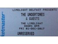 Undertones Ticket Belfast -sold out show