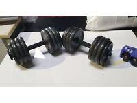 Cast Iron Dumbells 15kg each No230902