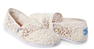 Wanted Toms white lace leaves classic womens shoes  US Size 7