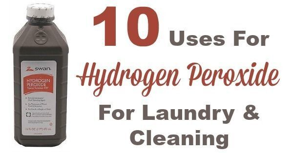 10 Uses For Hydrogen Peroxide For Laundry & Cleaning