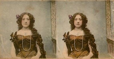20 colorierte Stereofotos schöne Genre, Dancer Theater um 1870 Lot 3
