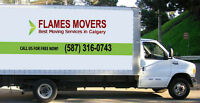 FLAMES MOVERS – ONLY $89 per Hour (587) 316-0743