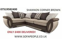 FREE POUFFE, Corner settee or 3+2 couch, Fabric sofa or Corner sofas, couches and suites guaranteed!