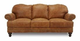 All Leather 3 seater sofa