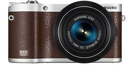 Samsung NX300 brown With 20-50mm Lens & case