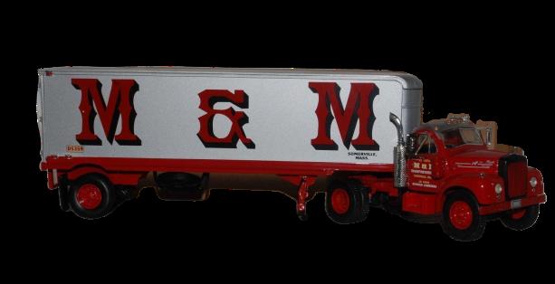FIRST GEAR 1960 MODEL B-61 MACK TRACTOR & TRAILER M&M 18-1365 1/34 NIB