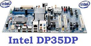 Intel DP35DP +CPU Core2 Quad Q6600: 2.40GHZ+4GB RAM: 75$
