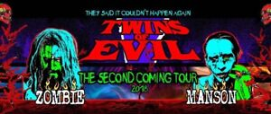 2 Rob Zombie and Marilyn Manson floor tickets for Toronto