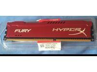 Kingston hyper X fury, Red ddr3 4G ram