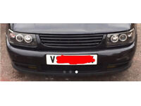 Vw polo 6n 16v front bumper fog lights de badged grill and angel eye head lights 1998 polo