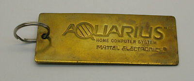 RARE Aquarius Home Computer System Mattel Electronics Keychain EMPLOYEE OWNED