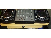Denon dns1200 with Vestax Mixer and Alesis Speakers