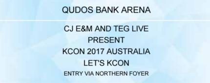 KCON AUS P1 combo ticket