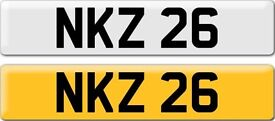 *NKZ 26* Dateless Personalised Cherished Number Plate Audi BMW M3 Ford VW Caddy Mercedes Vauxhall