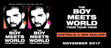 2 x Premium reserved tickets for Drake - Monday 20th November