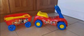 Paw patrol truck and trailer