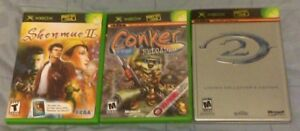 Conker Live & Reloaded, Shenmue II,  Halo 2 (Works w/ 360 too!)