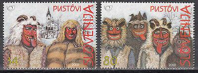 Slowenien / Slovenija Nr. 282-283** Traditionelle Faschingskostüme (Traditionelle Fasching Kostüme)
