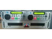 Kam KCD1000CDG twin karaoke cd graphics players