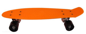 New Orange Mini Cruiser Skateboard Retro Banana Board 22