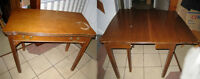 Antique SOLID WALNUT Folding Transformer Console - Dining Table