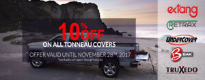 10% off all Tonneau Covers! BAK EXTANG UNDERCOVER RETRAX (BC)