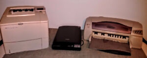 HP - LASER PRINTER, WIDE FORMAT COLOUR PRINTER and Epson scanner