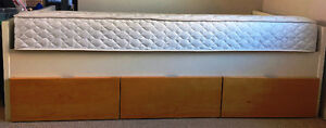 IKEA WHITE SINGLE BED WITH STORAGE AND  MATTRESS MINT!!!