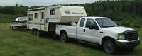 Sportman's Special Package: Truck, 5th wheel RV and boat.