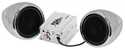 BOSS AUDIO 600W 2-SPEAKER BLUETOOTH SOUND SYSTEM CHROME POLARIS UTV AND ATV NEW