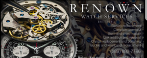 WATCHES, CLOCK, POCKET WATCH REPAIRAND QUICK BATTERY REPLACEMENT
