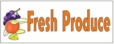 Fresh Produce 3ft X 8ft Banner Sign W4 Brass Groumets Salereg49.95