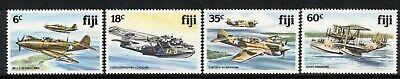 FIJI, 1981 WW2 PLANES 4 MNH