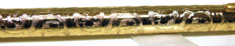 RARE 1993 CROSS JEWELERS TAPESTRY 22KT GOLD BALLPOINT PEN  quality  usa 402-6