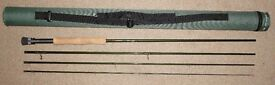 Diawa rods reel and tackle and greys fly rod plus flies etc.
