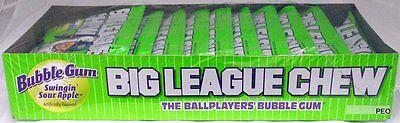 Big League Chew Swinging Sour Apple Free Shipping Bubble Gum Candy Bulk Candies