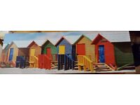 Beach hut canvas picture
