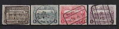 BELGIUM 1929 RAILWAY PARCELS SET FINE USED TR 170/73