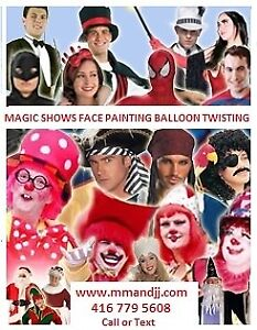 Magic Show/Face Painting /Balloon Twisting / 2 for 1 Price