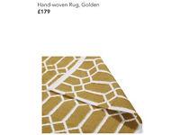 Hand-Woven Rug, Golden (RRP £179) £140 Brand New Last Stock