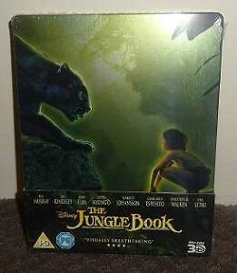 The Jungle Book 3D/2D Disney Blu-ray Steelbook [sealed] Morley Bayswater Area Preview
