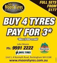 JUNE ONLY, BUY 4 TYRES PAY FOR 3....... SAVE UP TO $200 ON A SET Rockingham Rockingham Area Preview