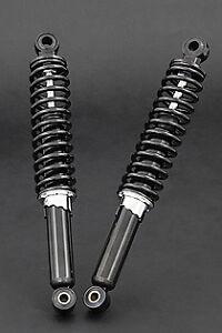 Black Kawasaki Z1R Z KZ 1000  Rear Shock Absorbers 45014-1020 45014-1023